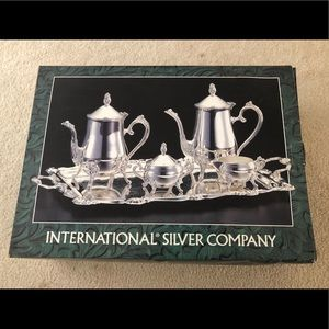 Antique Silver Plated Coffee Set